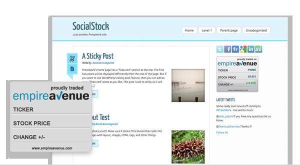 Introducing SocialStock – an Empire Avenue inspired theme