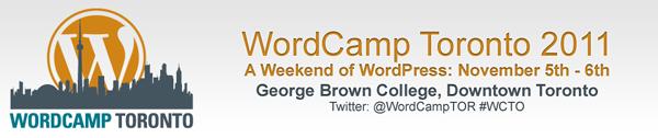 We'll be at WordCamp Toronto 2011 – Nov 5-6