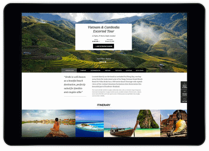 Website design for the travel sector