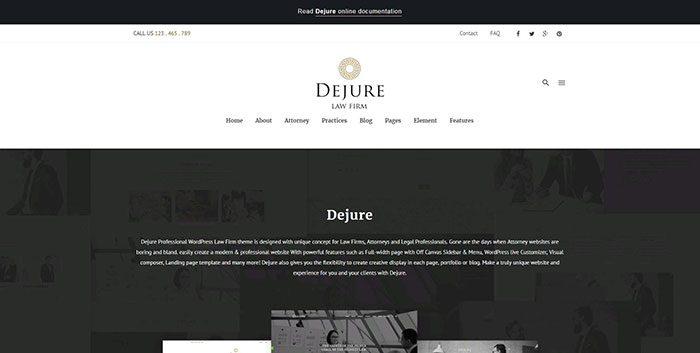dejure-wordpress-theme