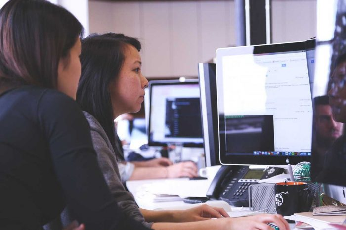 A person working with a professional in order to gain benefits of a website analysis.