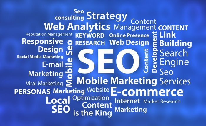 Different aspects of online marketing.